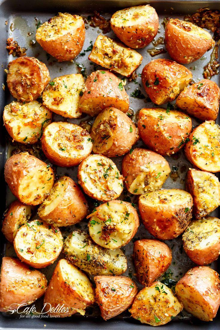 Browned Butter Parmesan Roasted Potatoes - Cafe Delites