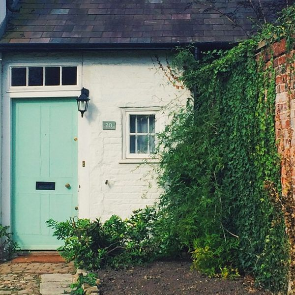 Home is where the mint-green door is.