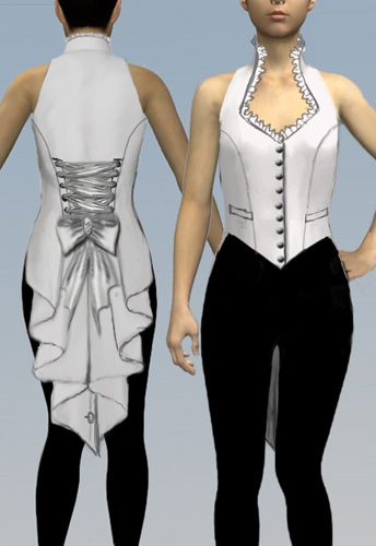 Victorian Bustle Vest by Amber Middaugh 2015. This Pattern design won. Chicstar.com will make a pattern of it.