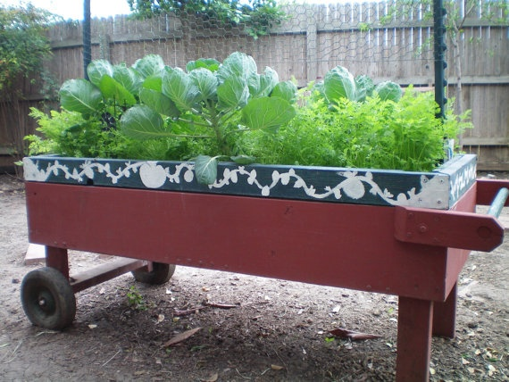 1000 images about vegetable cart on pinterest gardens for Portable vegetable garden