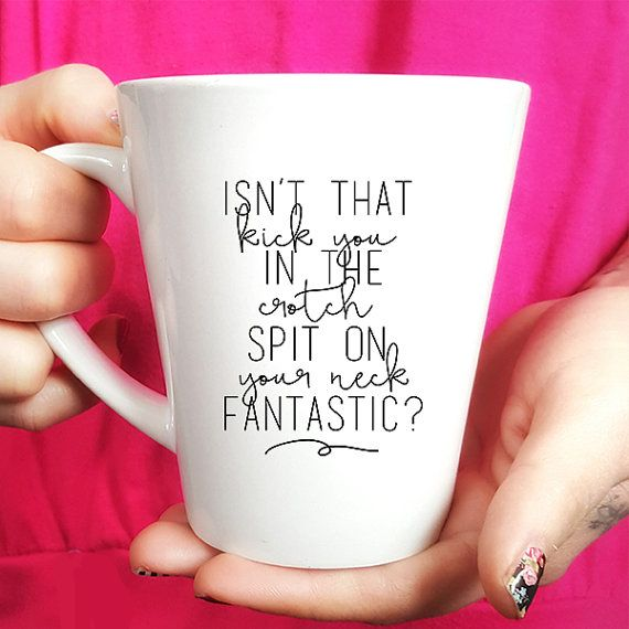 Ceramic Coffee Mug  Gift Idea  Tea Isn't That Kick by FranklyNoted