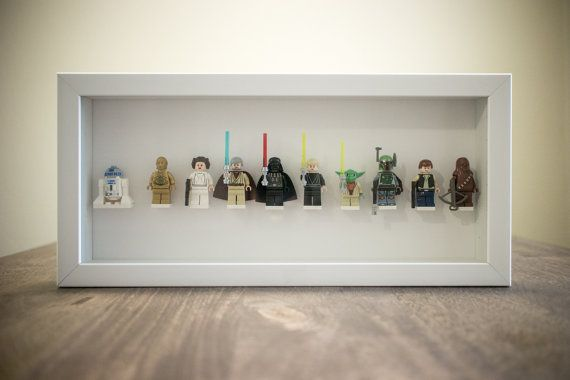 Star Wars Collection  Framed Lego Minifigures Set by mykoandkat