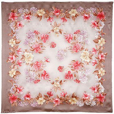 silk scarf from Pavlov Posad