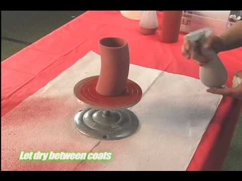 For those without a compressor, spray gun and spray booth, here is a quick & easy way to do glaze spritzing, using a spray bottle. WARNING...Glaze should not be inhaled, which is why you use a ventilated spray booth, but if one is not available, then do this method outside on a windless day.