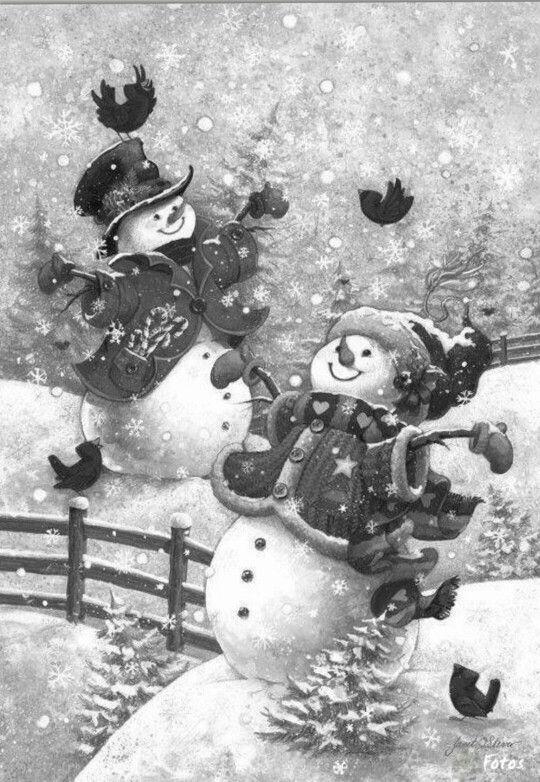 Snowmen Coloring Pages