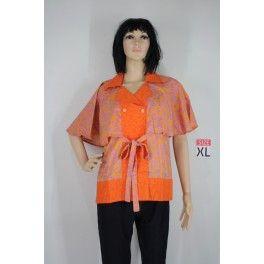 Baju Batik Pekalongan   Model Terbaru dan Modern   Blus Batik Embos Batwing (BBEB-655) - Batik Novita