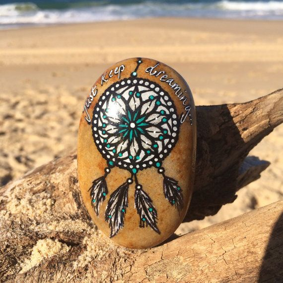 Hey, I found this really awesome Etsy listing at https://www.etsy.com/listing/234975585/dream-catcher-hand-painted-stones-hand