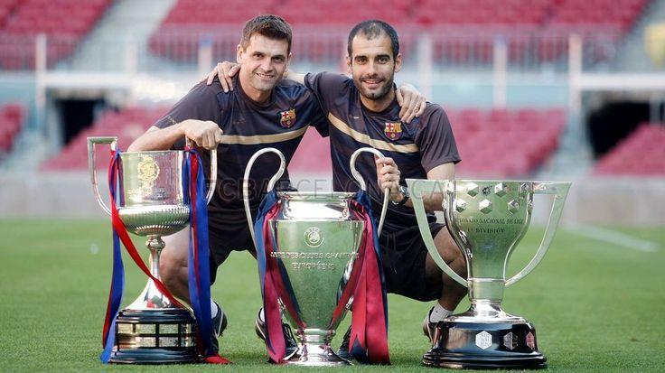 Tito Vilanova and Pep Guardiola #FCBarcelona #Tito