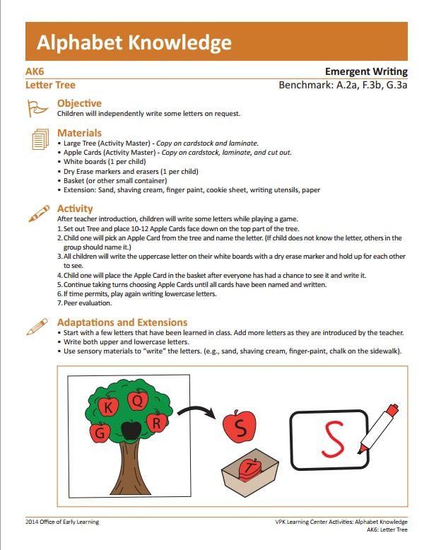 pin by florida center for reading reseach on vpk learning center activities letter tree. Black Bedroom Furniture Sets. Home Design Ideas
