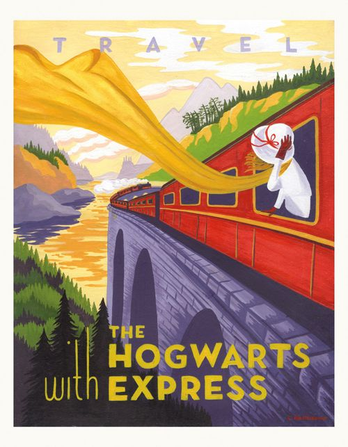 Harry Potter Travel Posters. Who hasn't wanted a trip on the Hogwarts Express? (I really wish you could actually buy this series!)