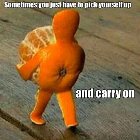 Pick Yourself Up - Love this, but my literal brain tells me the feet and belly button are facing the opposite direction to the arms and back of the head!!!