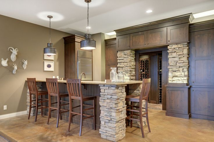 Home Wine Bar Remodel featuring Dura Supreme Cabinetry. Photo courtesy of designer Melissa Horman, The Cabinet Shoppe, Hudson WI