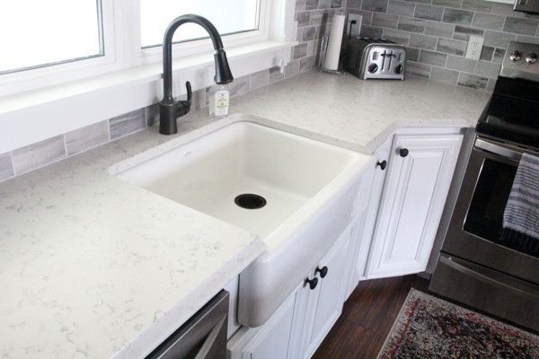 Counters And The Backsplash Finally Bathroom Ideas Pinterest Ceramic Subway Tile Grey