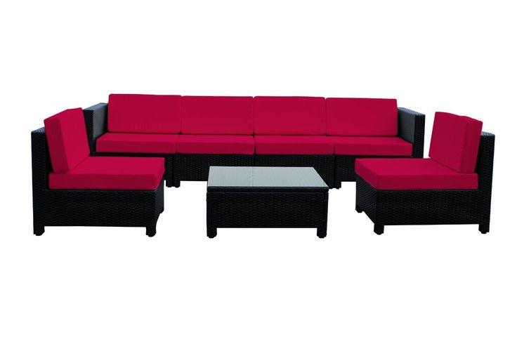 Special Discount 66% 7 pcs Luxury Wicker Patio Sectional Indoor Outdoor ...