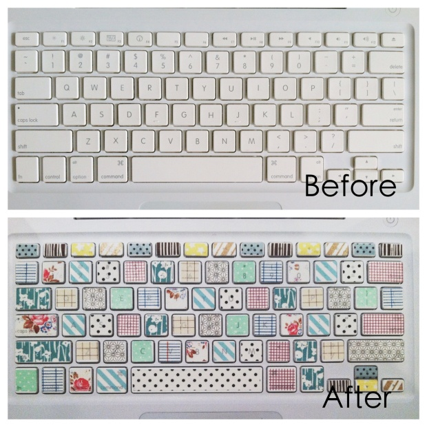 DIY Washi Tape Keyboard