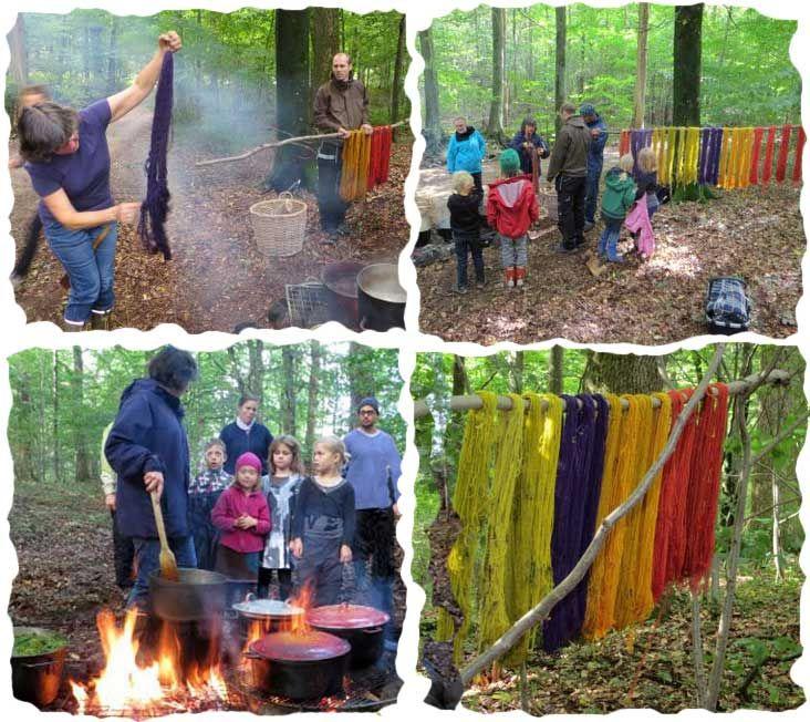 Dyeing yarn http://emiliaskolan.se