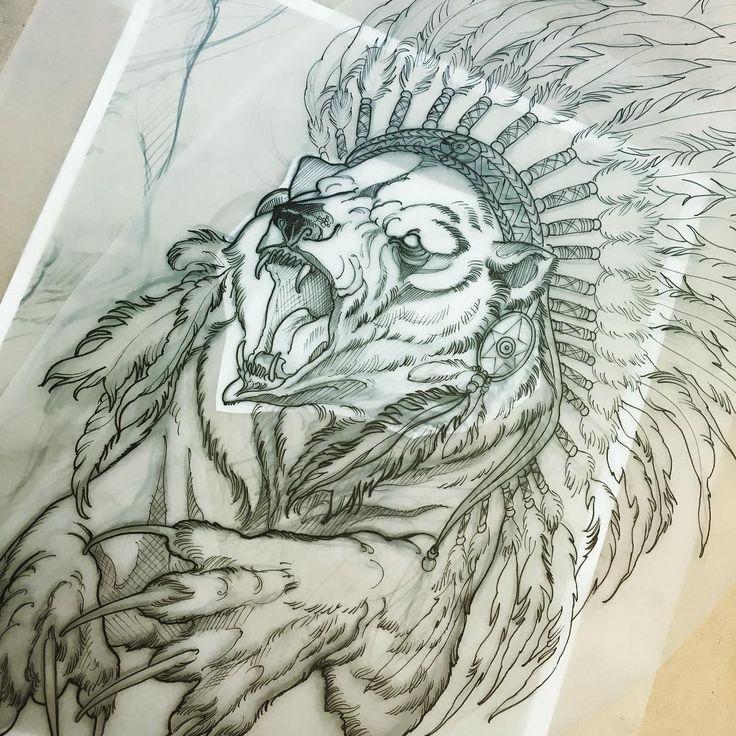 Great White Buffalo Native American Headdress Tattoo: 739 Best Tattoos Images On Pinterest