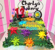 Paintball themed birthday cake by Charly's Bakery, via Flickr