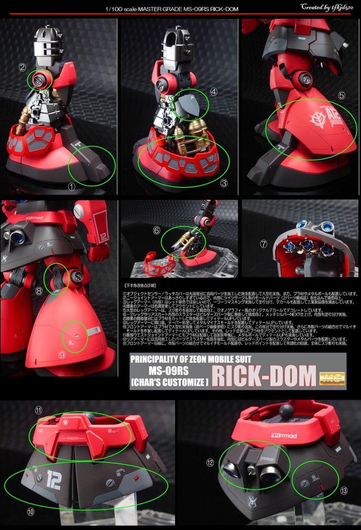 Custom Build: MG 1/100 MS-09RS Char's Rick Dom - Gundam Kits Collection News and Reviews