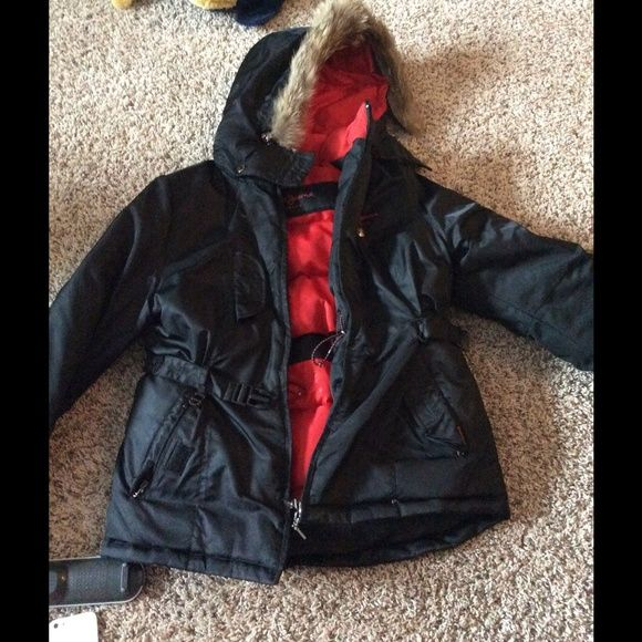 Pepe Jeans winter coat Pepe jeans winter coat. 55% Down.  Pockets inside to hold phone or IPod. Perfect condition.  Hood outlined in fur Pepe Jeans Jackets & Coats