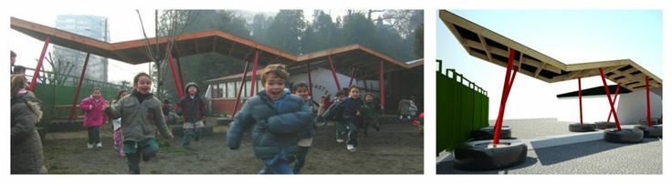 Acceso kindergarten Colegio Alemán, Temuco, Chile, 2009, by Schmidt.Restrepo Arquitectos