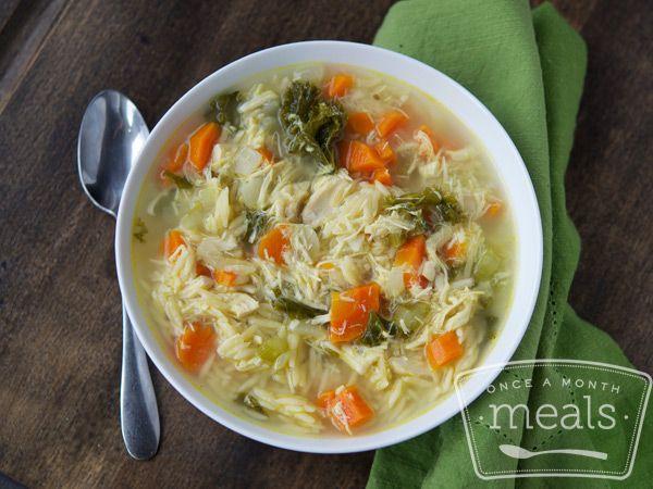 Keep Well Chicken Soup recipe- #freezercooking #soup