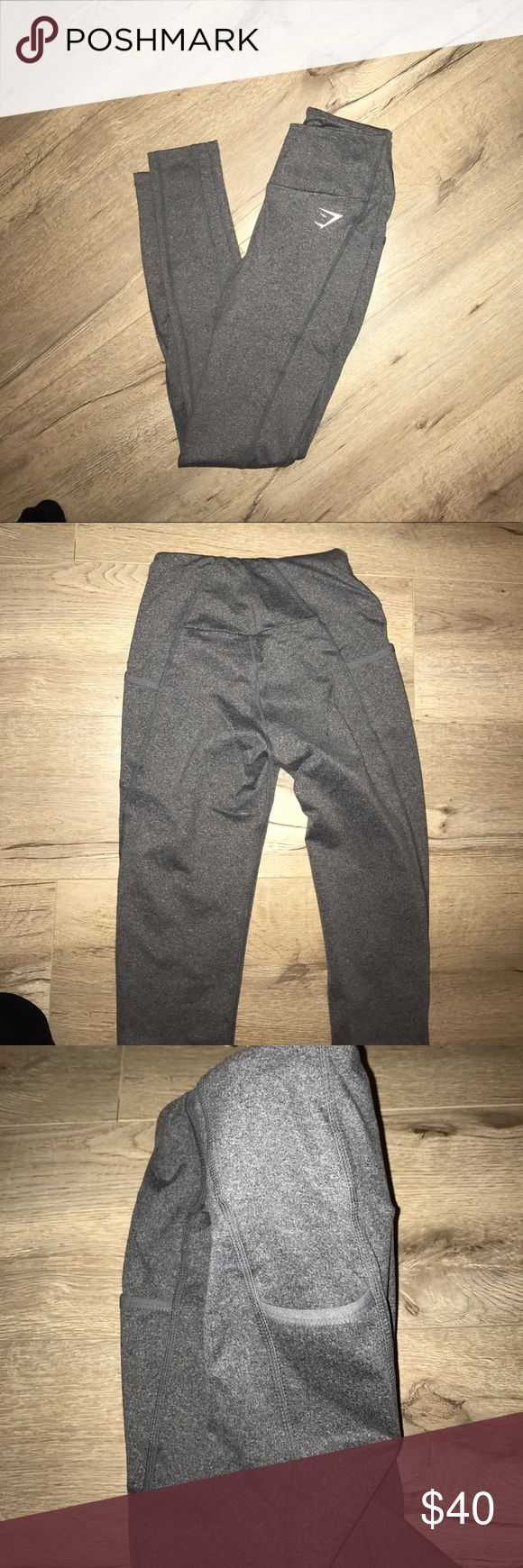 Gymshark gray leggings GYMSHARK DRY SCULPTURE LEGGINGS - CHARCOAL MARL.   These have never been worn:) I got an XS online and there a tiny bit too snug! Perfect condition gymshark Pants Leggings