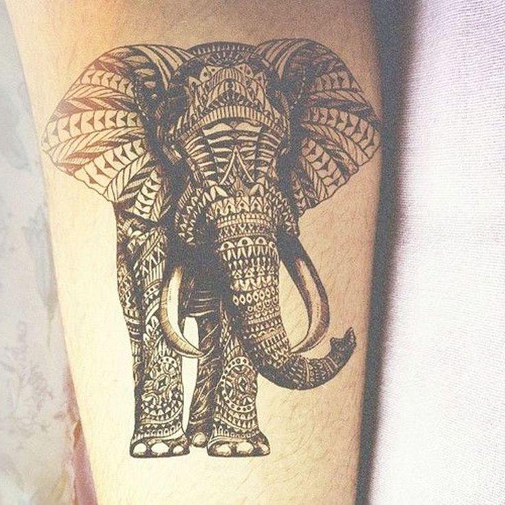 AmazingBlackInkOfElephantTattoo Tribal tattoos