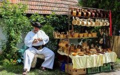 Slovakia ,traditional wood carved mugs