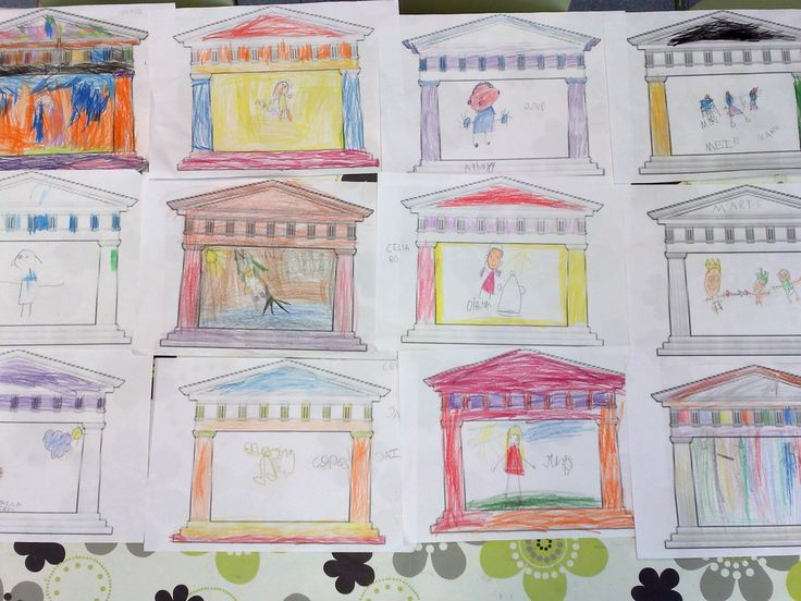 Las manualidades de mis niños: El panteon de Agripa
