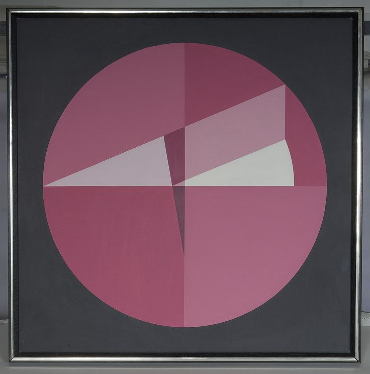 This painting is an artistic representation of the square root of pi, created by Crocket Johnson, author of Harold and the Purple (why not pink??) Crayon.