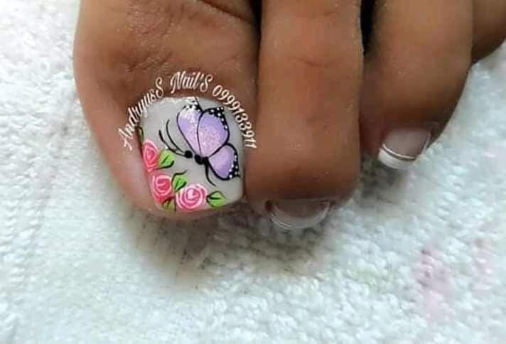 Pin de An&key en Uñas en 2020   Diseños de uñas pies, Uñas ...