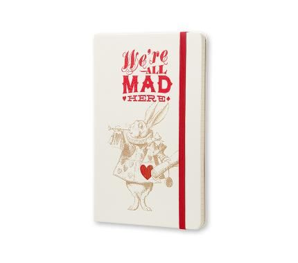 Limited Edition Notebook Alice - Ruled - Large - Hard Cover White