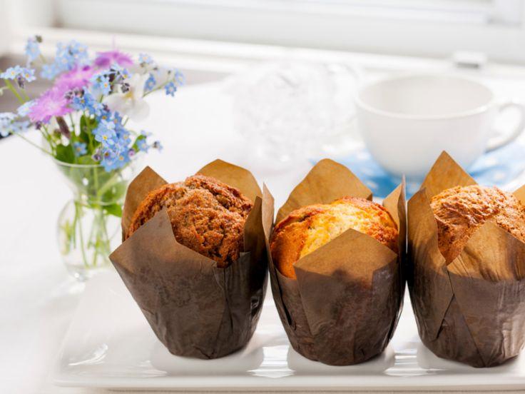 Die leckersten veganen Kürbis Muffins ever. Egal ob süß oder herzhaft zubereitet - sie sind der Knaller! // kaerlighed.de (Vegan Thanksgiving Pumpkin Cheesecake)