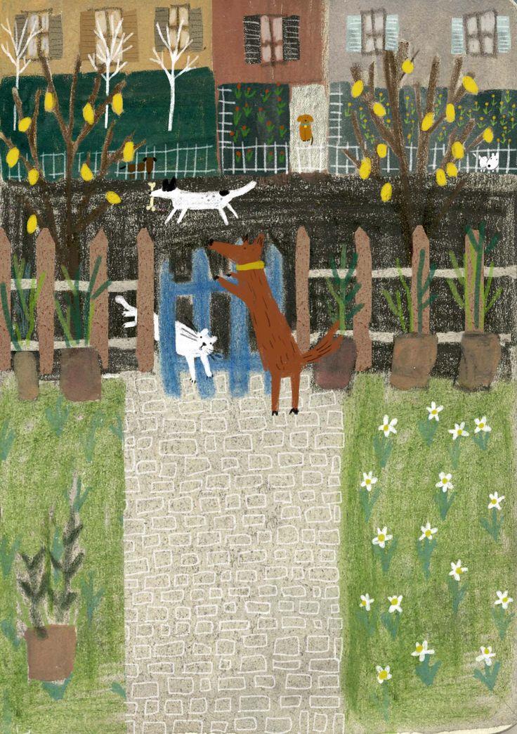 ''new dog on the block'' illustration by zafouko yamamoto