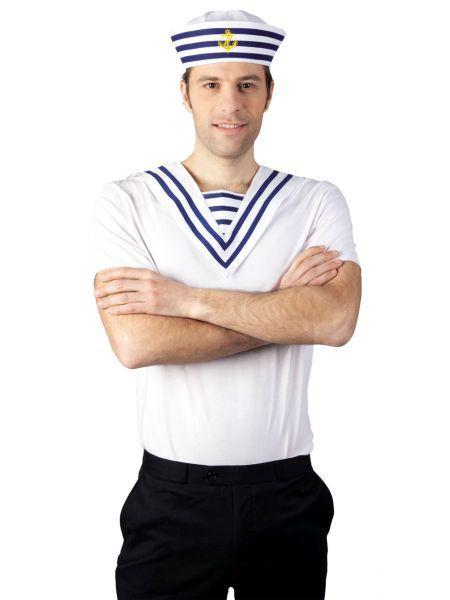 """https://11ter11ter.de/46747043.html Mütze """"Matrose"""" #11ter11ter #Fasching #Mottoparty #Party #Outfit #Kostüm #Mütze #Marine #maritim"""
