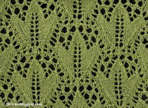 Ivy Leaf - Knittingfool Stitch Detail