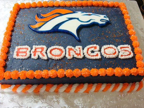 Denver Broncos cake I made for my grandson.