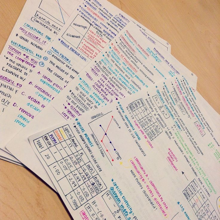 Plan: make my rewritten notes always look like this and put them into plastic sleeves in a binder