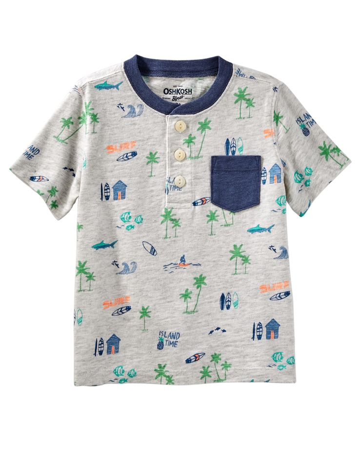 Toddler Boy Island Jersey Tee from OshKosh B'gosh. Shop clothing & accessories from a trusted name in kids, toddlers, and baby clothes.