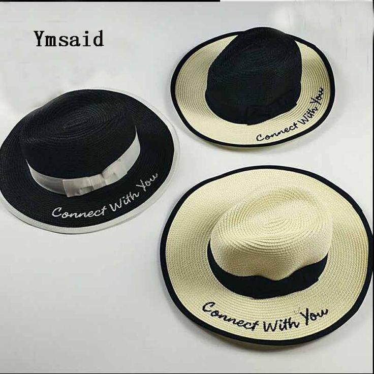 >> Click to Buy << 2017 Summer Women Stetson Ladies Wide Brim Straw Hats Panama Hat Summer Sun Hat Letters Foldable Beach Cap Visor Chapeau Stetson #Affiliate