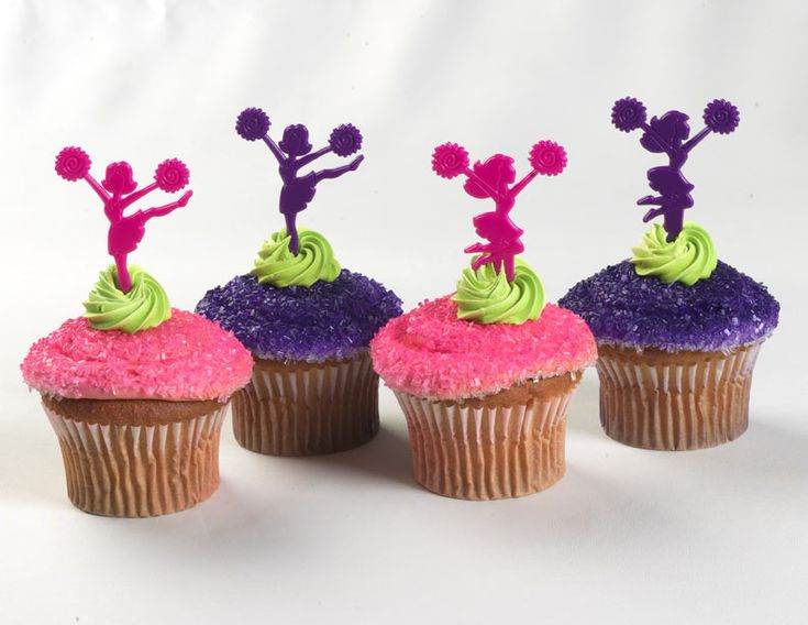 Cheerleader Cupcake Picks