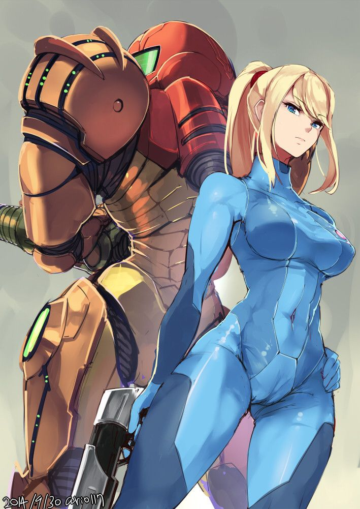 Metroid, Samus Aran (zero suit), by ario