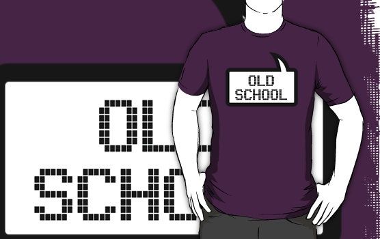 OLD SCHOOL T-SHIRT by Bubble-Tees.com