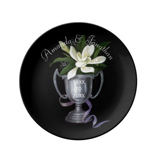 25th Silver Wedding Anniversary Commemorative Porcelain Plates