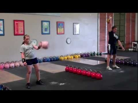 "11 Year Old Girl - 212 reps 8kg Kettlebell Snatch. Going to be the next Ksenia - brilliant performance. The bloke alongside her looks to be one of the extras out of the Michael Jackson video, the one for ""Thriller!"""