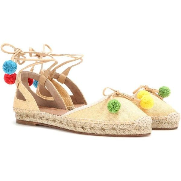 Aquazzura Palm Beach Espadrilles (6.050 ARS) ❤ liked on Polyvore featuring shoes, sandals, beige, palm tree shoes, palm beach sandals, beach shoes, beige sandals and palms shoes
