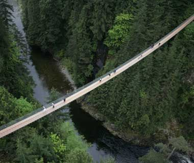 A part of me says oh hell no!! Love for adrenaline rush says WHOO! LETS GO!!  Capilano Suspension Bridge, Vancouver, Canada