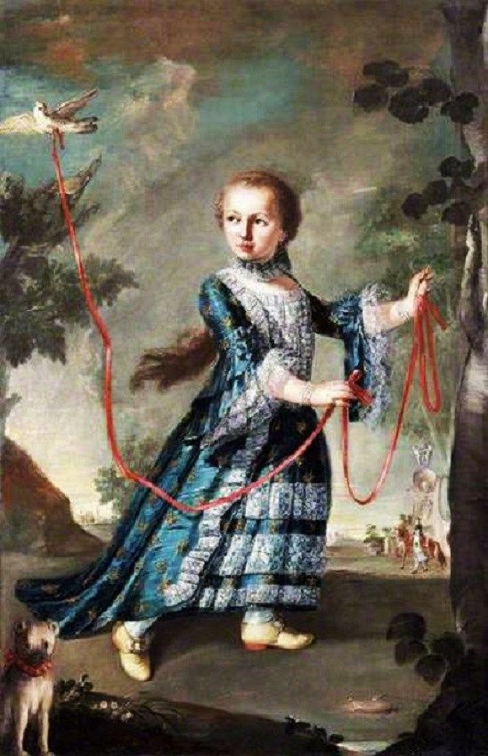 1768 Francesco Guardi A Young Girl of the Gradenigo Family with a Dove and Dog