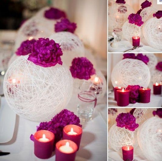 Yarn Ball Centrepiece for Wedding